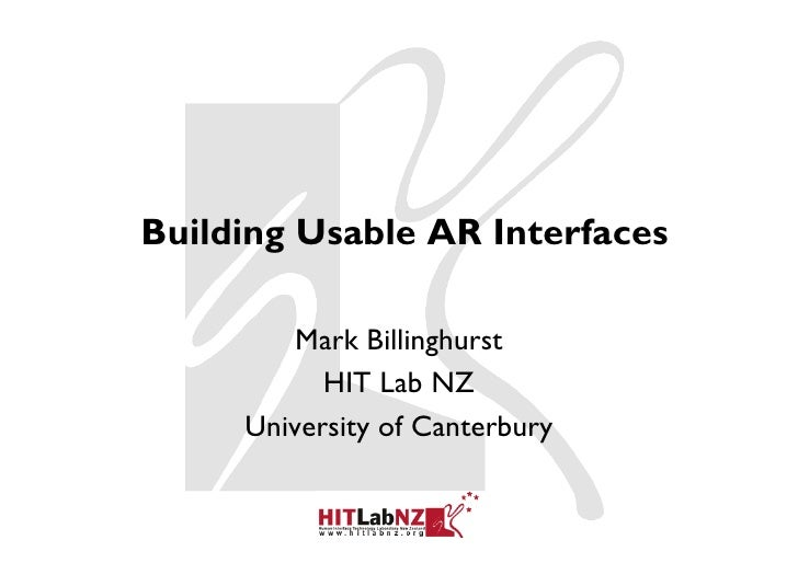 Building Usable AR Interfaces