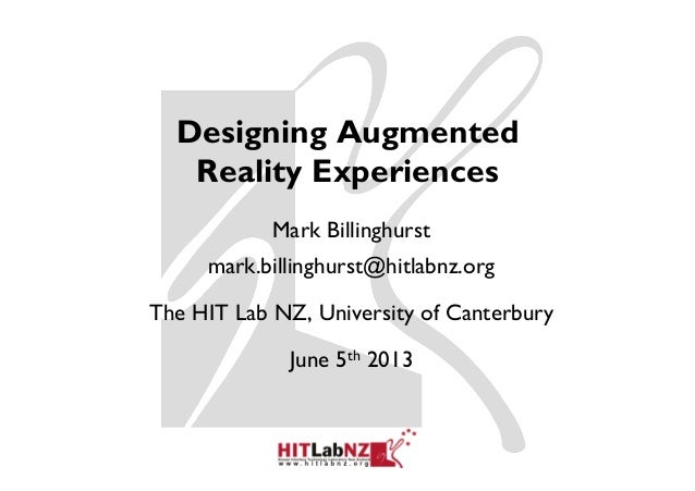 Designing Augmented Reality Experiences