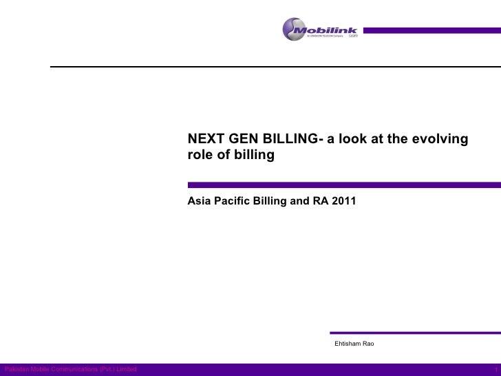 Telecom Billing's evolving role in post pc era