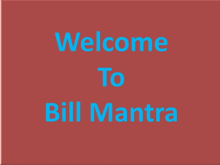 Bill mantra pp final