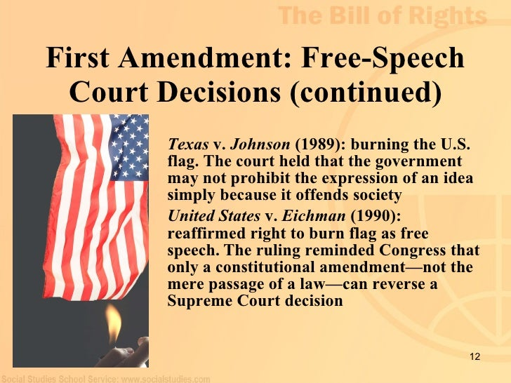 first amendment rights in public schools The first amendment and public schools primary first amendment rights akin to 'pure speech' public school officials must justify attempts to suppress or punish.