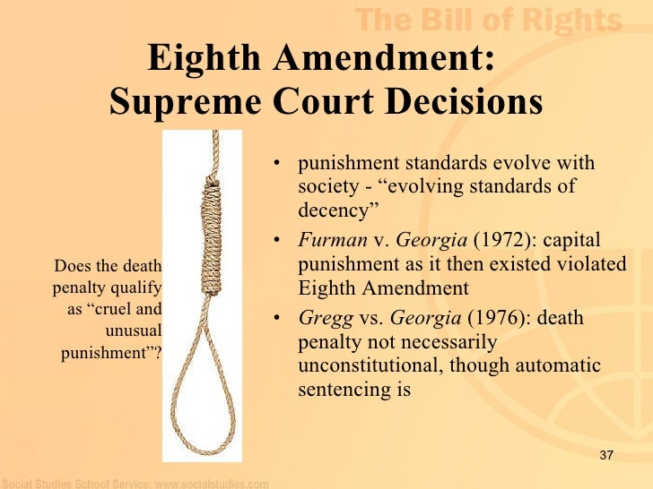 analysis of the 8th amendment The fifth amendment in public schools: a rationale for its application in  the fifth amendment in public schools: a  amendment under analysis.