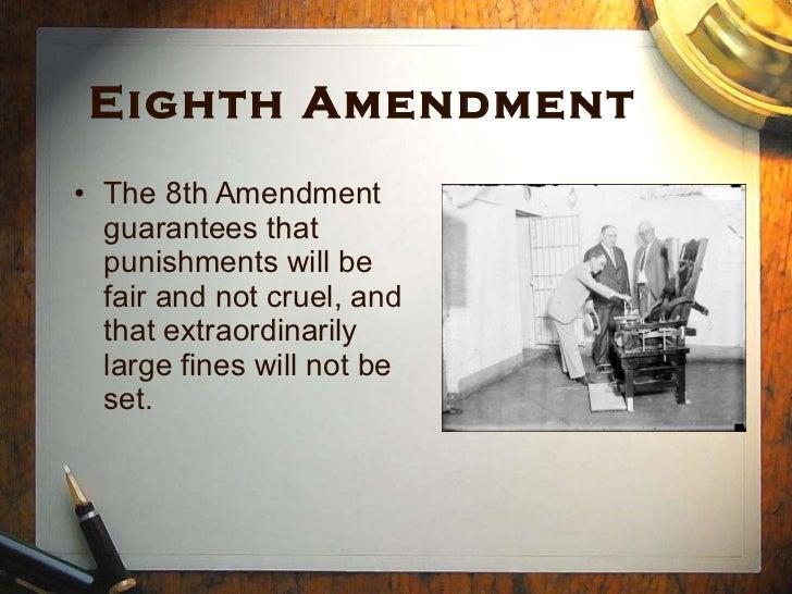 essay about the 8th amendment