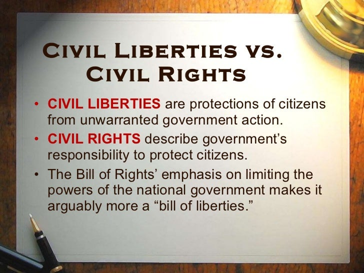 the examples of civil liberties and civil rights Civil liberties and constitutional rights  some of the hardest national security choices are inevitably those that involve tradeoffs with civil liberties.