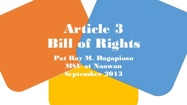 1987 philippine constitution article 3 bill of rights