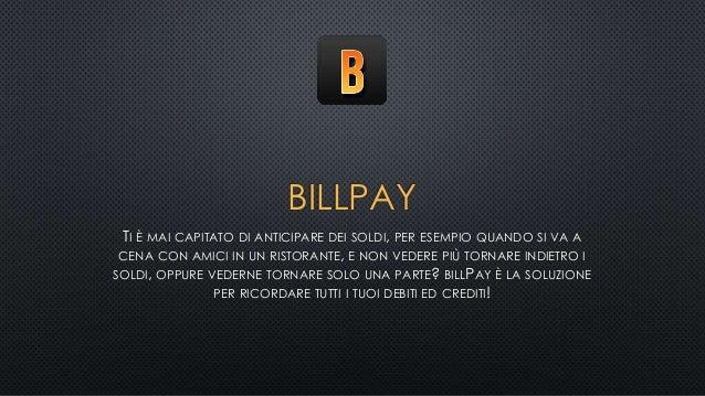billPay - Tieni traccia dei tuoi debiti e crediti!