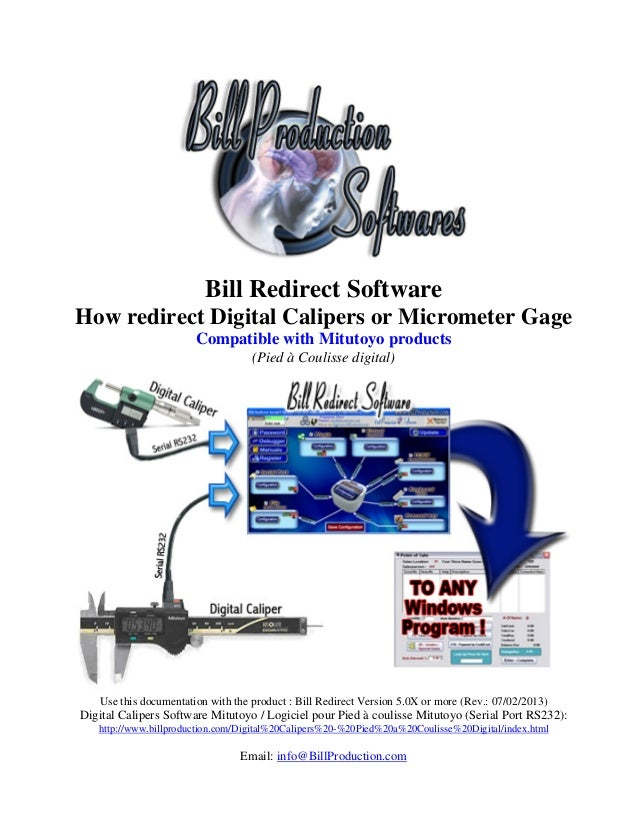 Digital Calipers Software Mitutoyo / Logiciel pour Pied à coulisse Mitutoyo (Serial Port RS232)