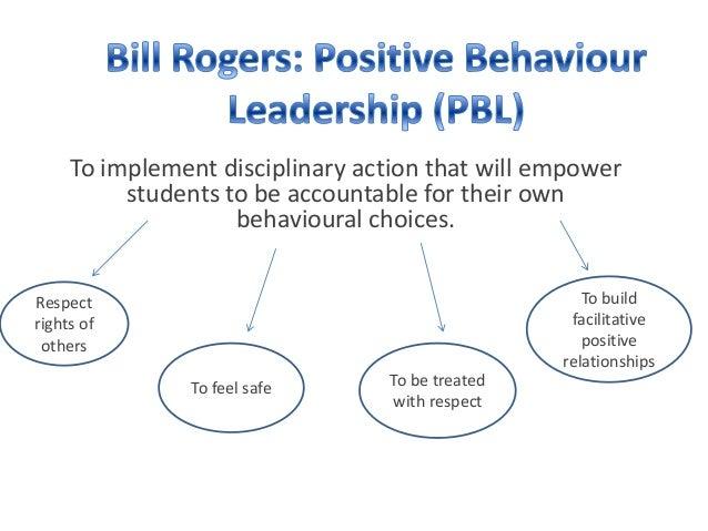 Para aplicar a acción disciplinaria que capacitar os alumnos a seren responsables súas propias opcións de comportamento. Construír ...