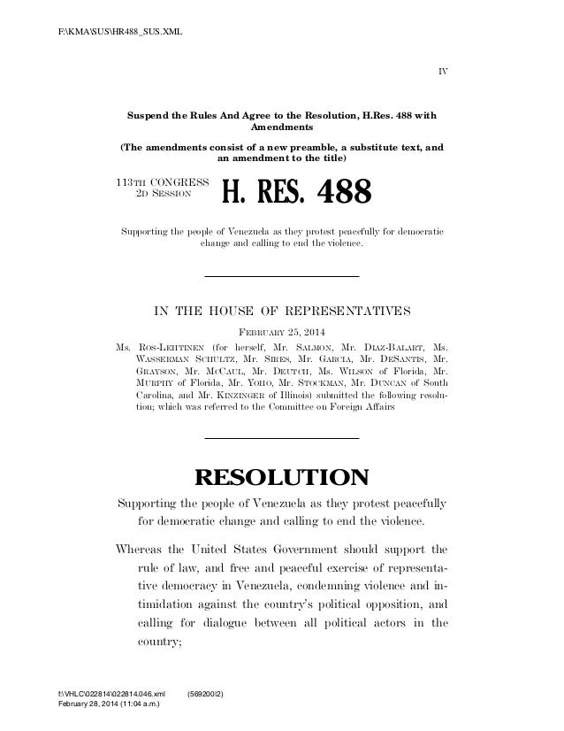 F:KMASUSHR488_SUS.XML  IV  Suspend the Rules And Agree to the Resolution, H.Res. 488 with Amendments (The amendments consi...