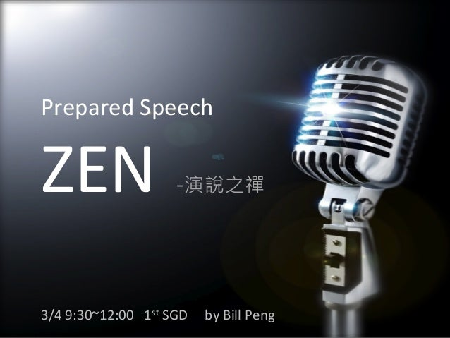 Prepared speech ZEN