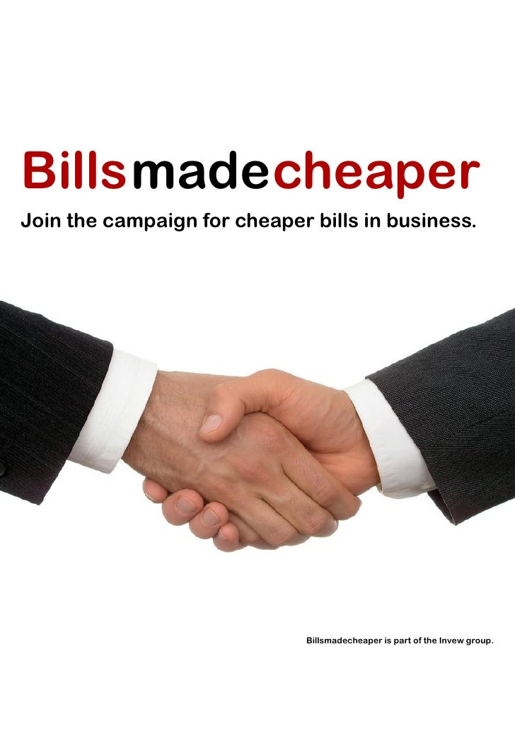 Billsmade cheaperJoin the campaign for cheaper bills in business.                              Billsmadecheaper is part of...