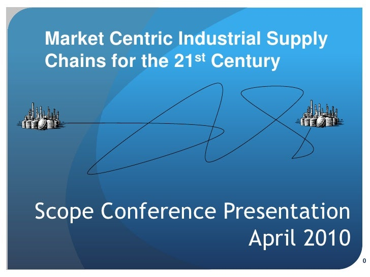 Market Centric Industrial Supply Chains for the 21st Century     Scope Conference Presentation                    April 20...
