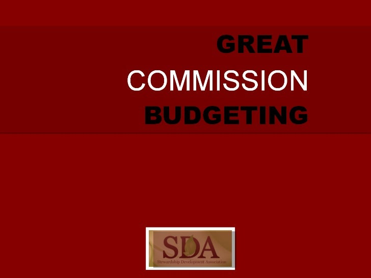 Great Commission Budgeting