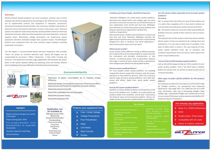 Condition your Power Supply – Benefit Your Business                Isn't the electric utility responsible to fix my power ...