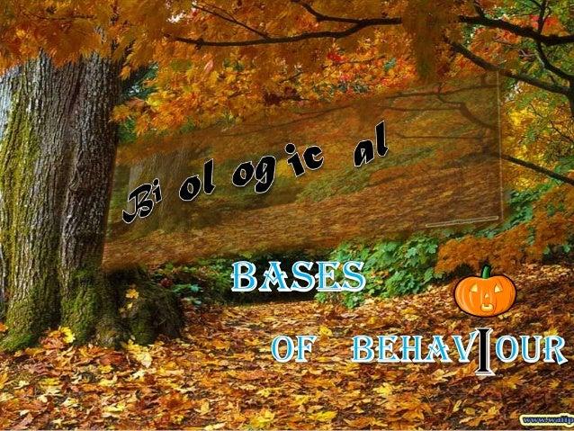 Behaviour - Biological bases