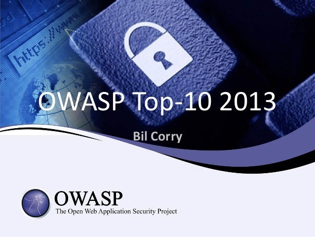 Bil Corry OWASP Top-10 2013