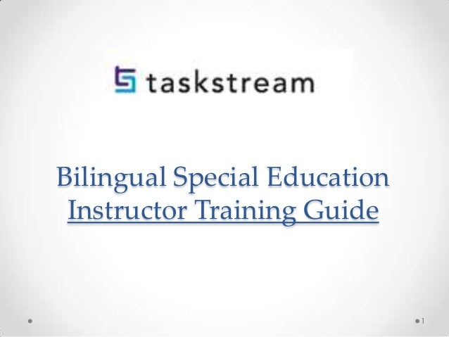 Bilingual Special Education Instructor Training Guide  1