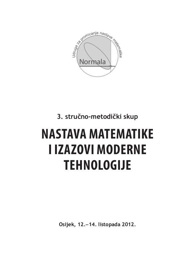 Bilten - Nastava matematike i izazovi moderne tehnologije
