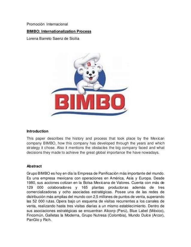 grupo bimbo case study An extensive body of research has been conducted to create this business case publication sources include unep's wider green  • grupo bimbo in mexico saved.