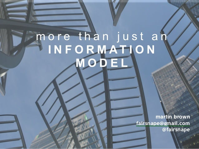 BIM: More than just an Information Model by @fairsnape