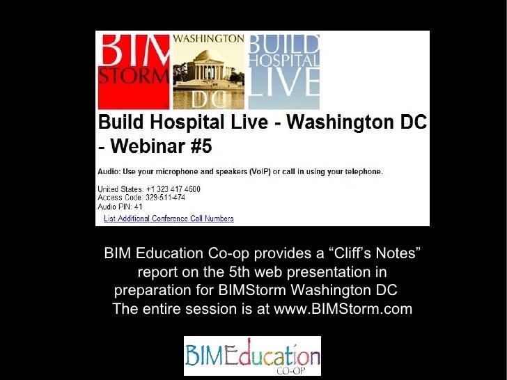 BIMStorm Washington DC Presentation 5 Report