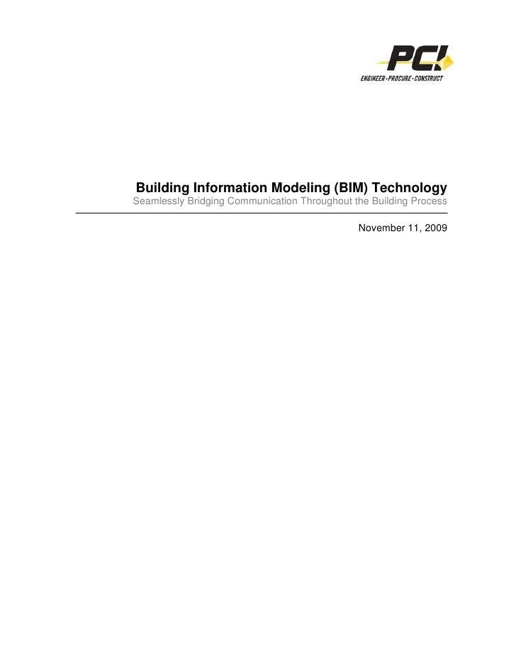 Bim White Paper 11 9 09