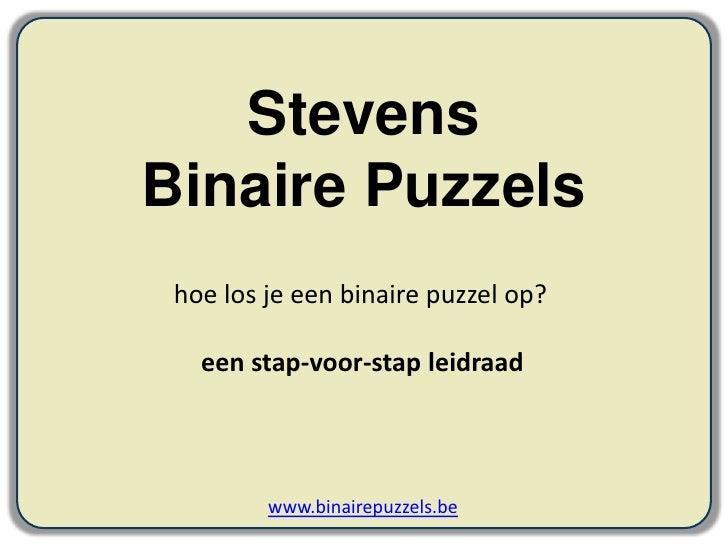 Hoe los je een binaire puzzel op?