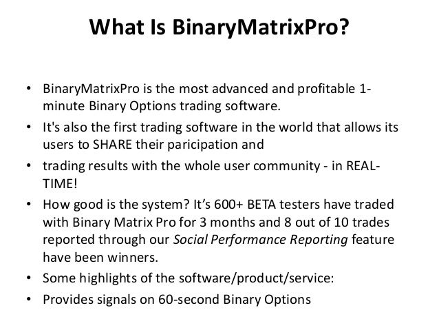 Binary options backtesting