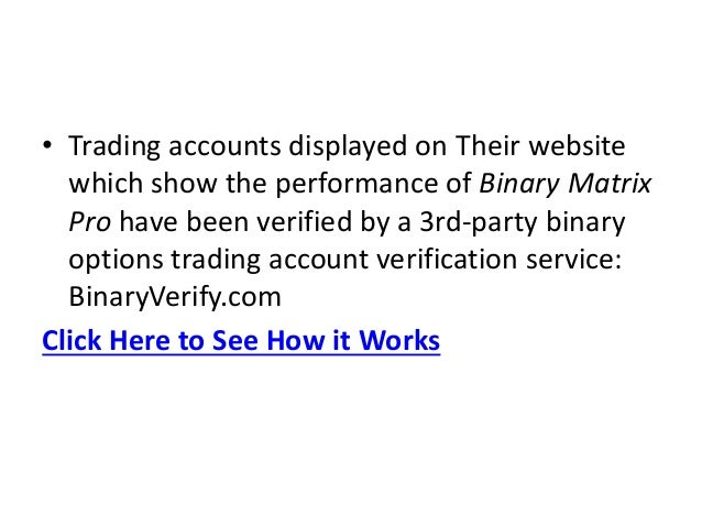 Binary options as a living