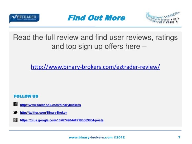 Eztrader binary options reviews