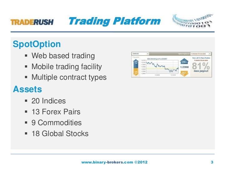 Binary options brokers directory