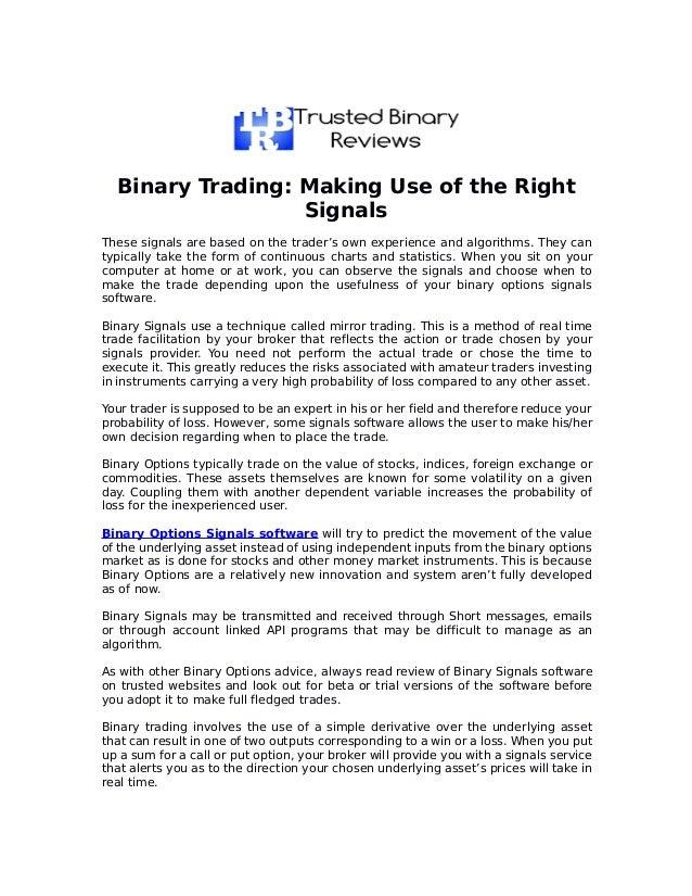 Binary options bully pdf