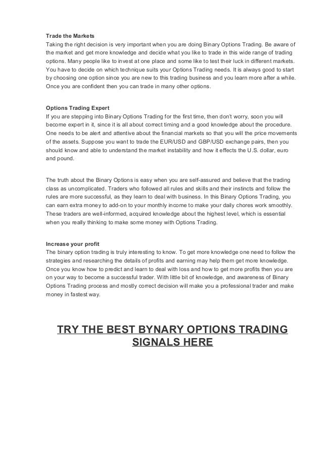 binary options signals mt4 brokers list