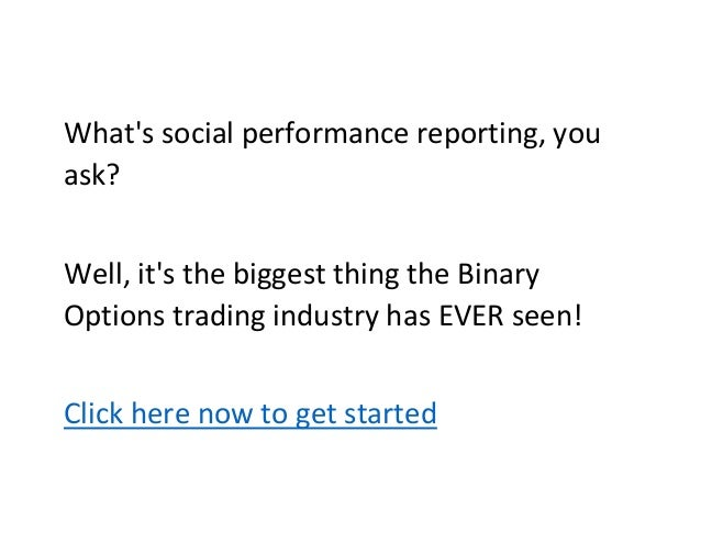 Binary options trading account