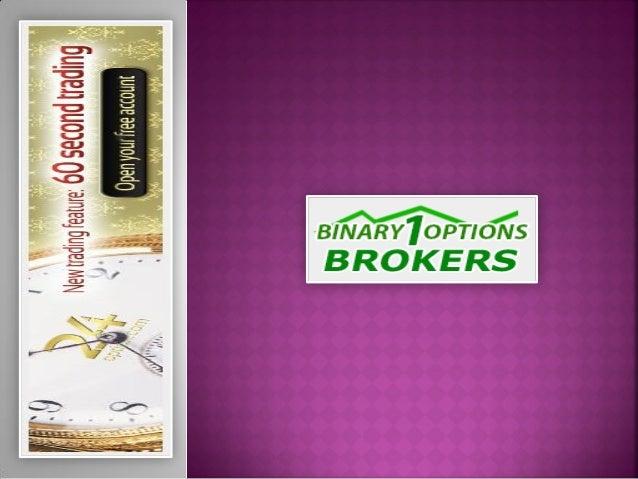 Binary options trading broker