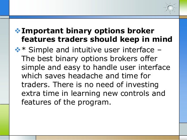 How binary option works