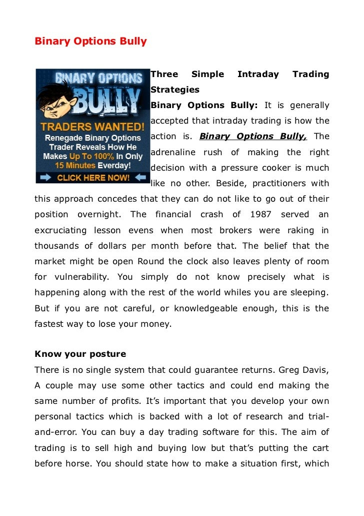 reviews and ratings about binary options bullying
