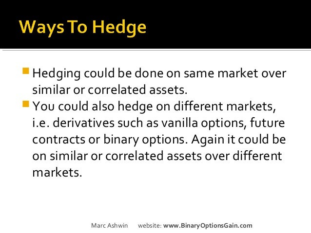 how to hedge options trades
