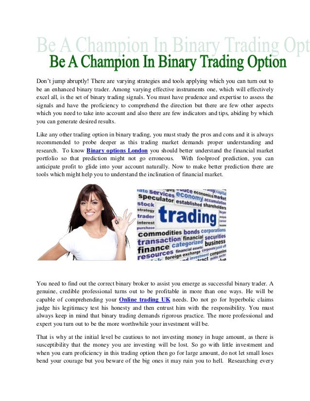 Binary options broker london