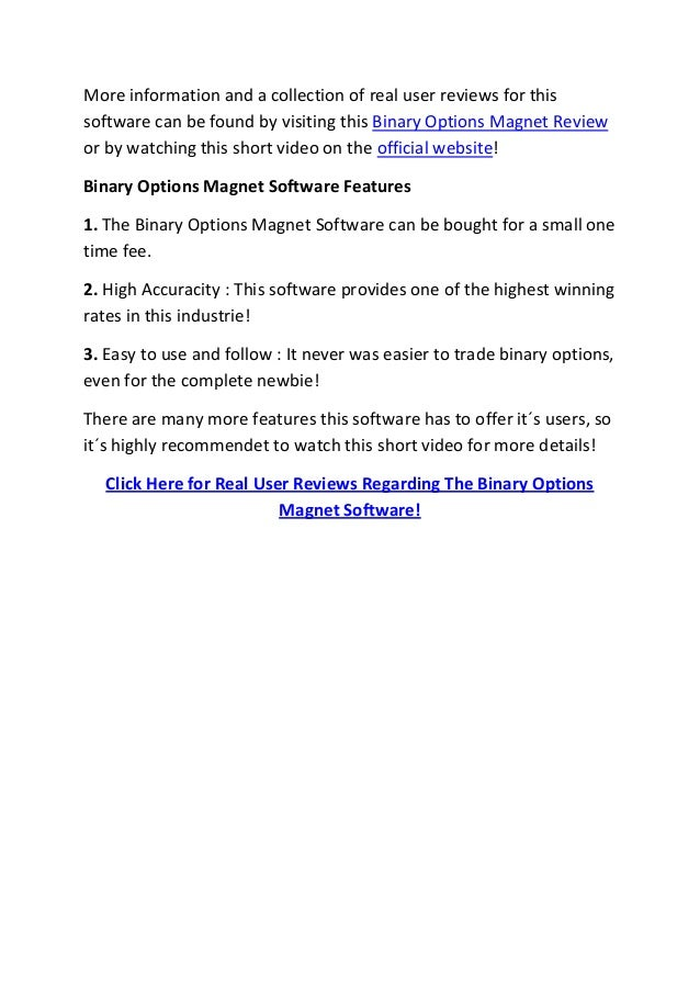 Binary options magnet review
