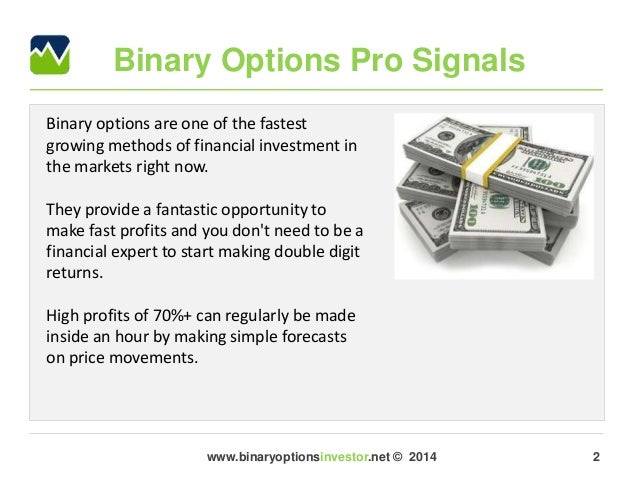 Binary options tsx