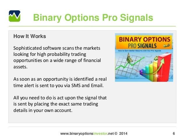binary options signals twitter stock