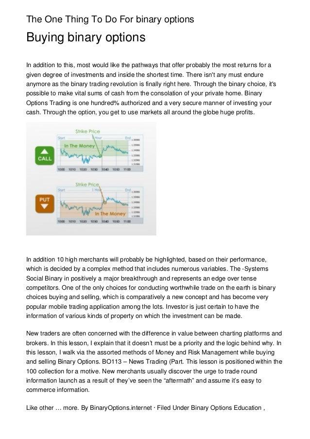 Binary options trading blogs