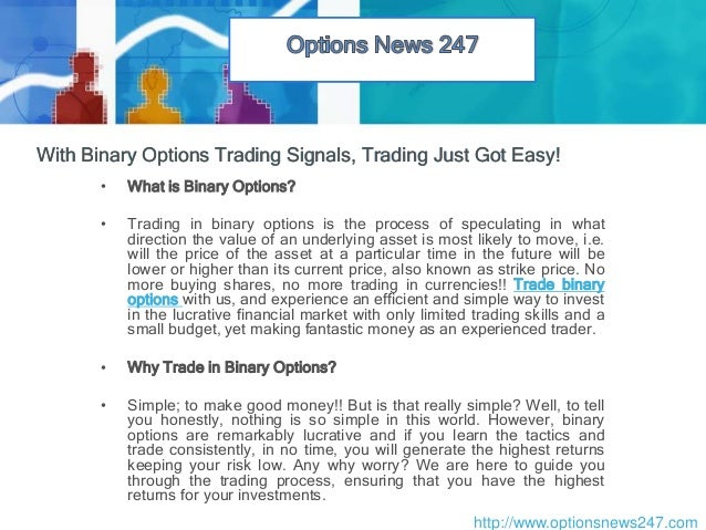 Options trading database