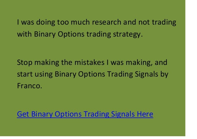 Binary options signals comparison