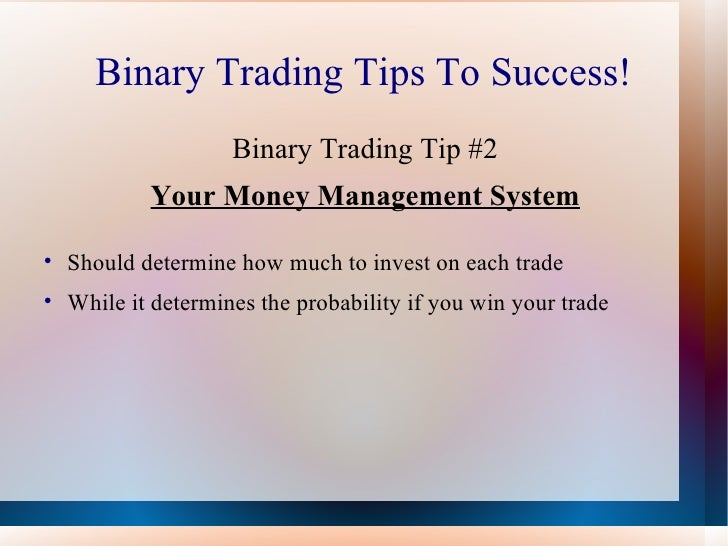 Binary options techniques