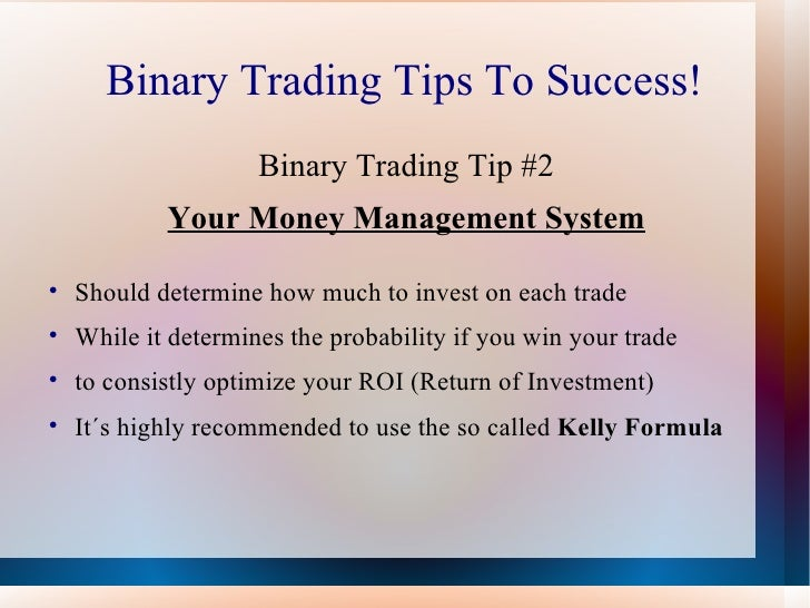 Simple binary options trading strategy
