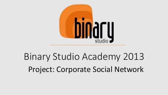 Binary Studio Academy 2013 Project: Corporate Social Network