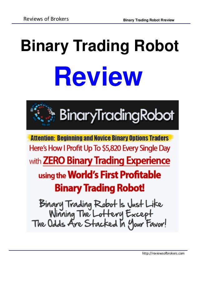Binary option robot zkusenosti