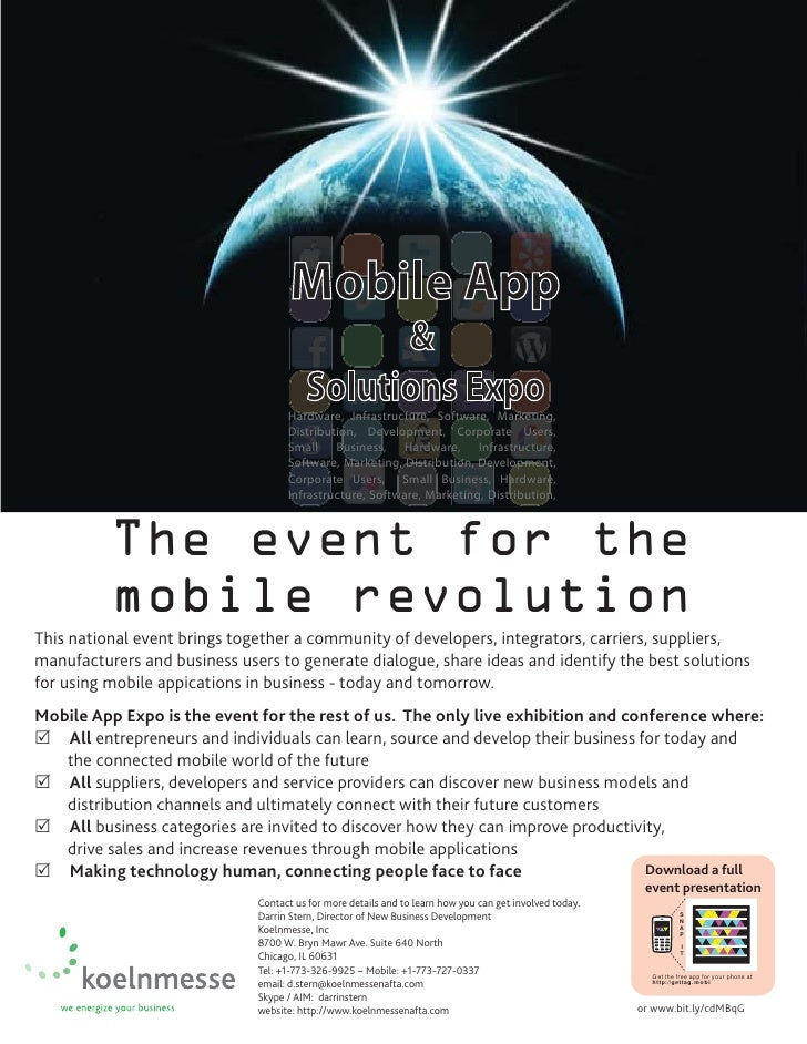 Mobile App & Solutions Expo Flier